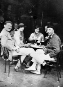 Hem and crew at a cafe